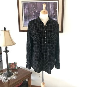 Blouse- Black and white